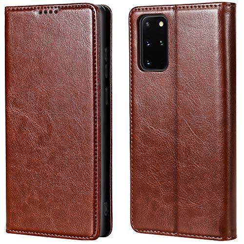MInYCB Samsung Galaxy S20 FE Hülle, [RFID Schutz] [Aufstellfunktion] [Magnetverschluss] Handyhülle mit Kartenfach, Lederhülle Klappbar, Flip Hülle Handyhülle für Galaxy S20 FE Hülle Hülle (braun)
