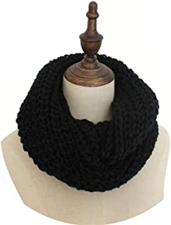 Warm Winter Knitted Infinity Scarf Women Knitting Snood Ring Scarf Thick Loop Ring Neck Scarf