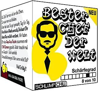 Schlump-ChiliDer beste Chef der Welt - ein Geschenk Set für deinen Boss in der Firma! Eine Geschenkidee zum Wichteln, zum Geburtstag zur Firmenfeier oder zum Ausstand und Rente