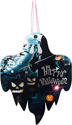 wholesale RiamxwR Skull Witch Ghost Glowing Pendant Halloween Hanging Ornaments, Halloween Hanging Pendant Home Decoration outlet online sale (Style wholesale D) outlet sale