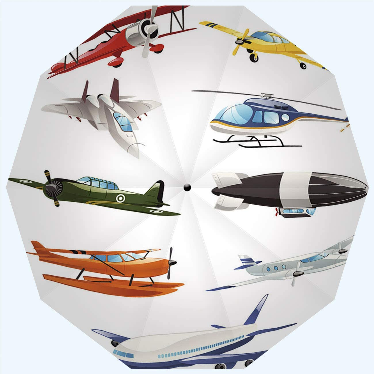 RLDSESS Cartoon Shipping included Airplane Travel Folding Direct store Automatic Open Umbrella