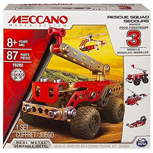 MECCANO Cars, Multimodels, Rescue Squad 3 Model Set, Multicolore, 3 Modelli, 6026714