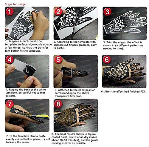 Henna Tattoo Stencil Temporary Tattoo Te Buy Online In Costa Rica At Desertcart