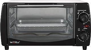 WOLTU BF10wsz Mini Four à Pizza à Pain 12 litres,grillé Mini Four avec minuterie 100-250 ℃ 800W,Blanc+Noir