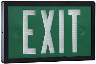 Isolite - SLX-60-S-20-G - ABS Self-Luminous Exit Sign, Green Background Color, 20 yr. Life Expectancy