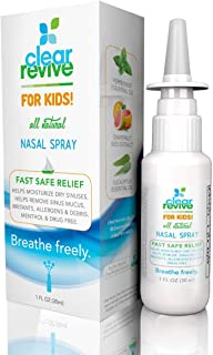 Clear Revive for Kids - All Natural, Drug-Free, Child Safe, Non-Drowsy, Moisturizing Allergy Nasal and Sinus Relief Spray 2 Pack (1 Pack)