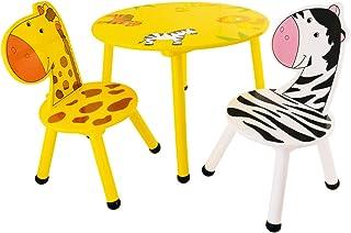 Bieco Juego de mesa y 2sillas, mesa para niños a partir de 3años gelb/schwarz/weiß
