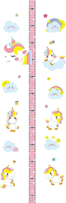 High quality ZDarker Ranking TOP12 Baby Height Growth Chart Wall Ru Ruler 3D Unicorn