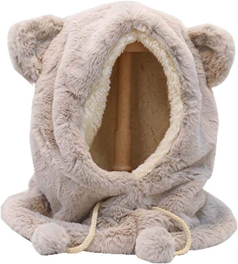 DRAGON SONIC Fur Animal Critter Hat Cap Scarf for Women, H1
