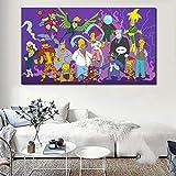 Personaje de televisión hecho araña héroe de dibujos animados lienzo de impresión sala de estar decoración del hogar pintura al óleo moderna arte de la pared cartel pintura sin marco 48x78 cm