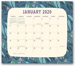 Orange Circle Studio 2020 Magnetic Monthly Calendar Pad, August 2019 - December 2020, Botanicals