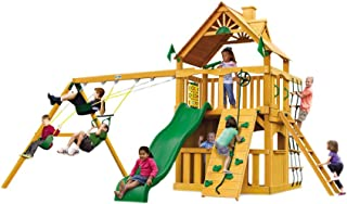 Gorilla Playsets Chateau Clubhouse Swing Set w/Natural Cedar