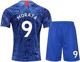 19-20 Chelsea Jersey No. 10 Azar 7 Kanter No. 9 Morata Home Short-Sleeved Football Uniform Suit Male (one Size -2XL)