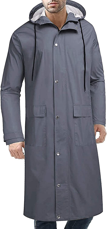 COOFANDY Manufacturer regenerated product Men's Rain Ranking TOP2 Jacket with Hood Waterproof Acti Lightweight