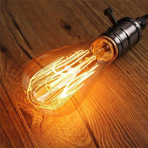Fomccu Carbone ampoule à filament lumière 60 W vintage antique Edison style E27 20 V