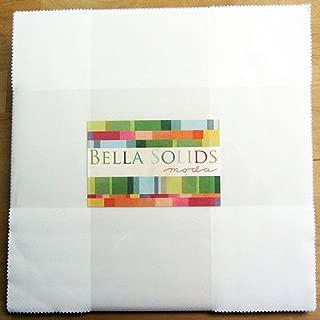 Bella Solids White Layer Cake 42 10-inch Squares Moda Fabrics 9900LC 98