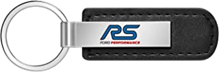 iPick Image - Ford Black Leather Strap Key Chain - Focus RS