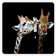 Giraffes in Love - Light Switch Plate Cover - Double Toggle