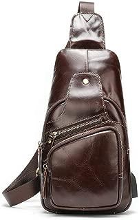 Well-Made Multifunctional PU Material Pockets Shoulder Messenger Bag Chest Bag Function Motorcycle Bag Mobile Phone Bag Purse Size 17 * 7 * 31CM Dynamic (Color : Brown)