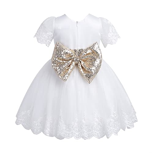 0d0f88f1961d6 TiaoBug Baby Girls Flower Wedding Pageant Princess Bowknot Communion Party  Dress