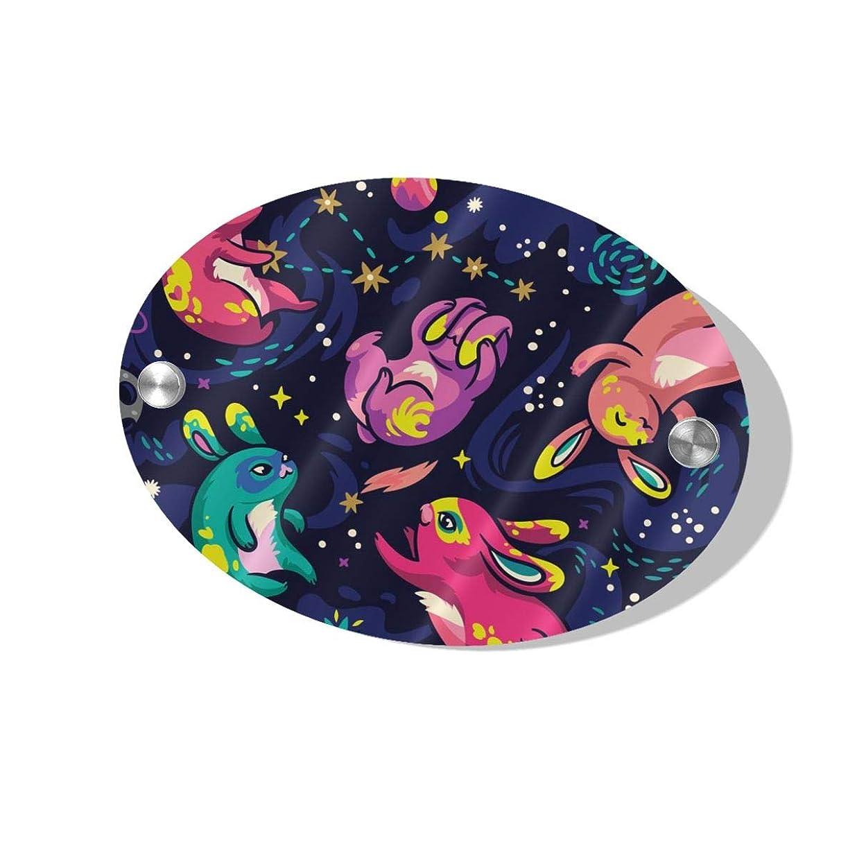 泳ぐお酒親愛なBunnies Explore Space ハイエンド、スタイリッシュ、シンプル、人気、絶妙でエレガントな楕円形のドアプレートは、頑丈で美しく、取り付けが簡単です