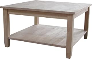 Best unfinished square coffee table Reviews