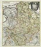 Historische Karte: Westfälischer Kreis - Tabula Nova Atque Exacta Westphaliae 1710 (Plano)