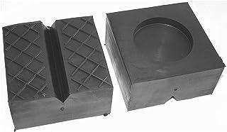 100x100x50mm Gummiauflage, V Nut, Waffeloberfläche und Aussparung für Wagenheber und Hebebühnen