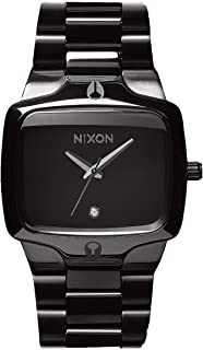 NIXON Player A140 - All Black - 100m Water Resistant Men's Analog Fashion Watch (40mm Watch Face, 26.5mm-20mm Stainless Steel Band)