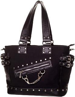 Banned Gothic Damen Handtasche - Schultertasche Handschellen, Nieten und Schnallen