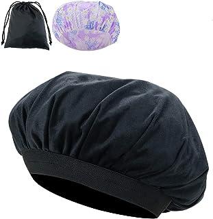 Locisne Capuchon thermique conditionnement profond amovible graines lin, bonnet chauffé par micro-ondes pour revitalisants...