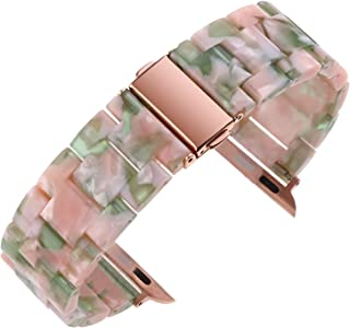 Ceramic Bands For Apple Watch 38mm 40mm 42mm 44mm Bracelet Butterfly Buckle For Iwatch Series 4/3/2/1