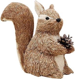 Set di 3 portatovaglioli decorativi in resina per decorazione tavolo da pranzo 14,7 cm riccio scoiattolo Autunno//inverno//Natale animali del bosco: volpe marrone verde