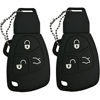 SCITOO 2 PCS New Remote Replacement Key Shell Case 4btn fit 1999-2006 Mercedes-Benz IYZ 3312