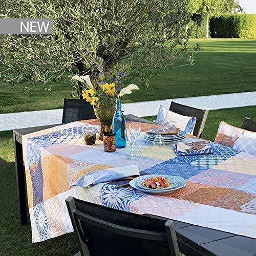 Garnier Thiebaut Mille Zelliges Nappes, Coton, Multicolor, 155 x 225 cm