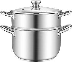 Stoombootpot, Roestvrijstalen Voedsel Stoomboot Koken Pot Soep Pot Kookgerei Pot Multi-Layer Boiler Stomen, Met Transparan...