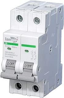 LANGIR 500VDC 2P Solar Photovoltaic Din Rail Non Polarized DC Circuit Breaker Control Circuit C Curve With TUV Certificates (40A)
