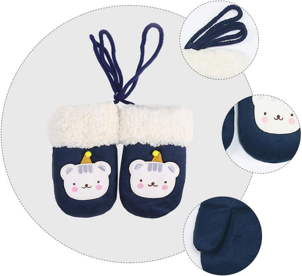 KESYOO 1 Pair Winter Mitten Gloves Christmas Warm Fluffy Gloves Mittens for Baby Kids Toddler Infant Newborn