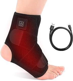 comprar comparacion Tobillera Calentada Terapia de Calor para Tobillo con 3 Temperaturas para Esguince, Lesiones, Tendinitis de Hinchazón USB ...
