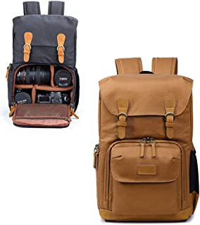 DSLR Camera Backpack for Men and Women, Professional Camera Bag Waterproof Anti Shock for Canon Nikon Sony,Khaki