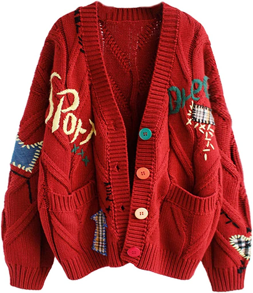 WENWING Women Crochet Knit Cardigan Sleeve Colorful Financial sales Finally resale start sale Long Buttons