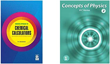Modern Approach to Chemical Calculations + Concept of Physics Part-2 (2019-2020 Session) by H.C Verma (Set of 2 Books)