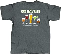 OLD GUYS RULE T Shirt for Men | Need Glasses | Cool, Funny Graphic Tee for Dad, Husband, Grandfather Gift | Dark Heather