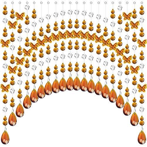 GuoWei-Cortinas de Cuentas Cristal Perlas para Puerta Salón Tabique Decoración Moderno Personalizable (Color : A, Size : 45 strands-180x90cm)