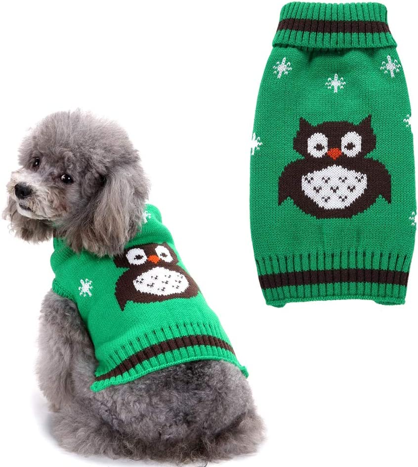 NACOCO Challenge the lowest price of Japan ☆ Pet Clothes The Owl Ranking TOP6 Cat Sweater Christmas Dog