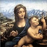 Poster 30 x 30 cm: Madonna mit der Spindel von Leonardo da