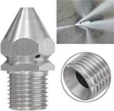 Guozh Pipe High Pressure Cleaning Nozzle Pipe Dredging Cleaning Nozzle Sewer Stainless Steel Cleaning High Pressure Nozzle