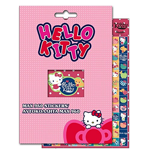 GUIZMAX 960 Stickers Hello Kitty Disney Autocollant Enfant Scrapbooking