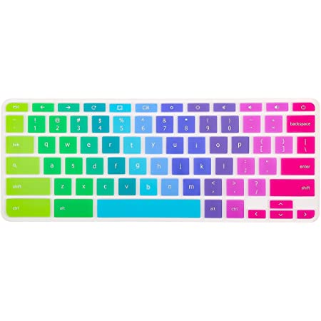 Keyboard Cover Compatible Acer Chromebook R 11 CB5-132T CB3-131,Acer Premium R11 Chromebook 15 CB3-531 CB5-571 C910 US Layout Chromebook 14 CB3-431 CP5-471 Ombre Blue Chromebook R 13 CB5-312T