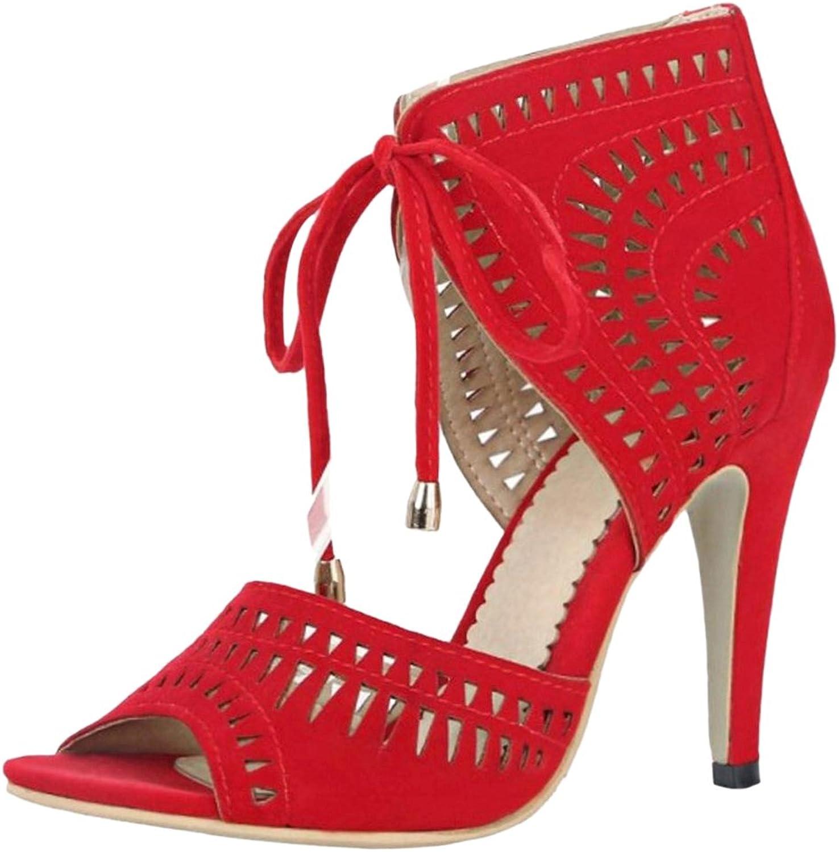 CarziCuzin Women Lace Up Heels Sandals shoes